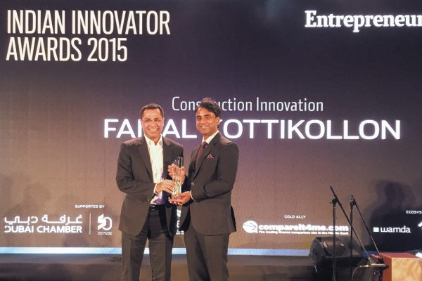 FAIZAL KOTIKOLLON, CONSTRUCTION INNOVATOR AWARD, INDIAN INNOVATION AWARDS