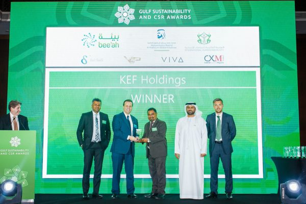 KEF HOLDINGS, BEST LEARNING AND EDUCATION PROGRAM – FAIZAL AND SHABANA FOUNDATION BY GULF SUSTAINABILITY AND CSR AWARD